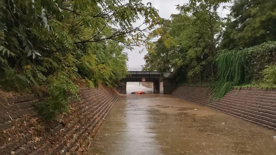 Cortada la circulación ferroviaria entre Villafranca de los Barros y Zafra por las intensas lluvias