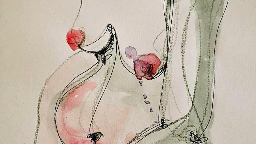 Rebeca Orts Jover muestra sus dibujos
