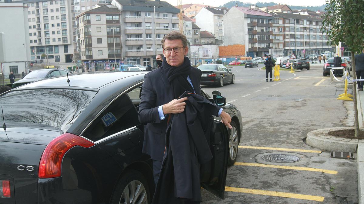 Feijóo, ayer, en su visita a Ourense.