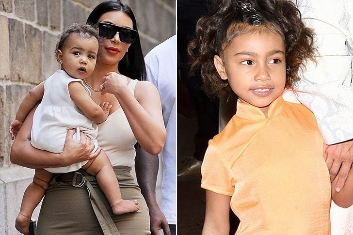 Una de las hijas de Kim Kardashian.