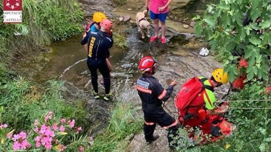 Rescate de un senderista atrapado en una poza en Alcudia de Veo
