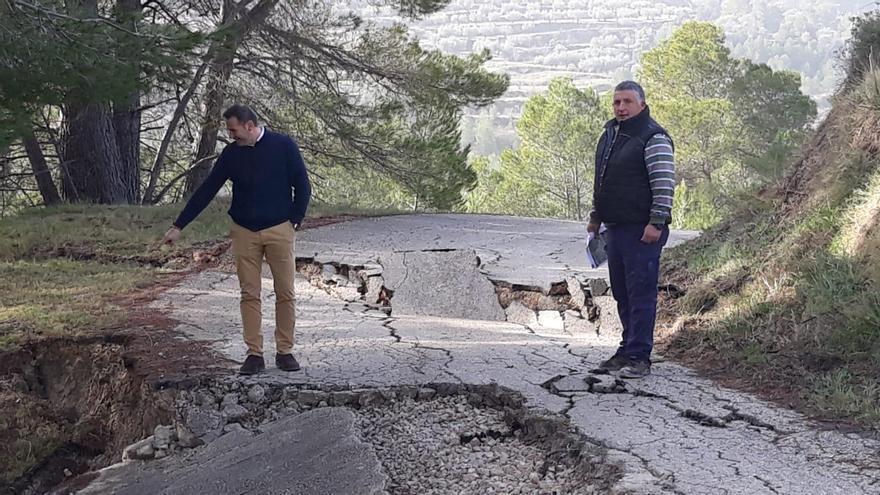 La Diputación sufraga con 180.000 euros la reapertura de los caminos de medio centenar de municipios afectados por la borrasca Gloria