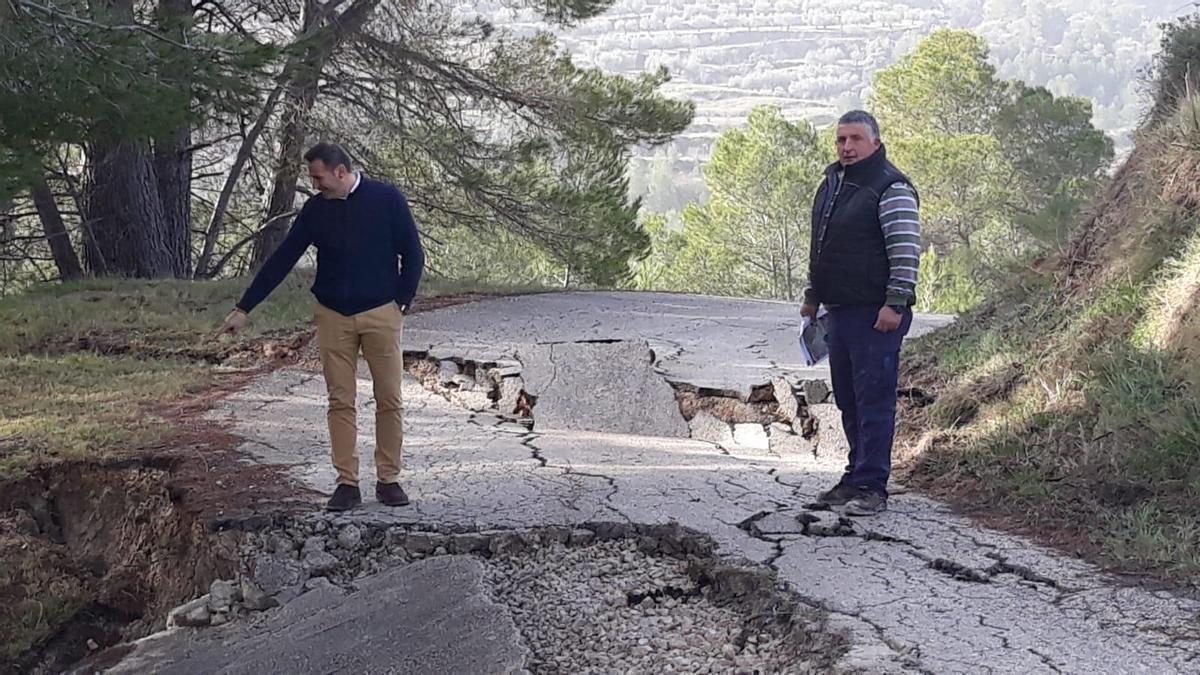 Situación de los caminos tras el temporal Gloria