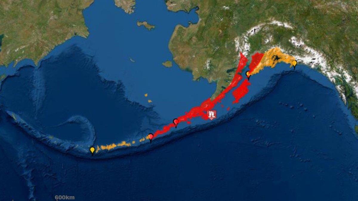 Alerta de tsunami en Alaska tras un terremoto de magnitud 7,8