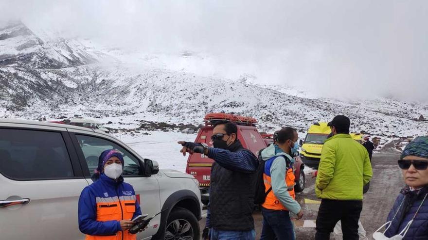 Cuatro muertos en Ecuador tras una avalancha en el pico Chimborazo