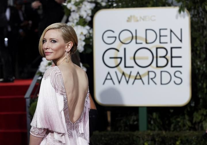 Cate Blanchett arrives at the 73rd Golden Globe Awards in Beverly Hills