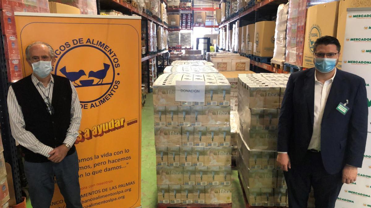 Mercadona dona 11.500 kilos de productos de primera necesidad al Banco de Alimentos