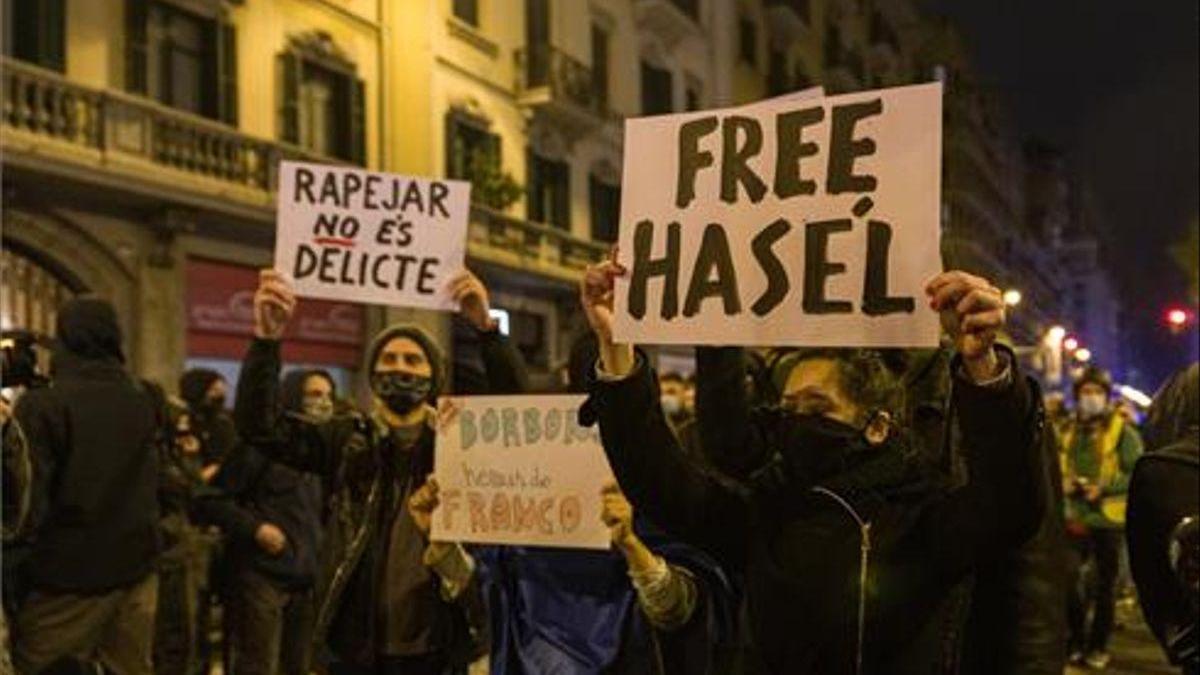 Convocada otra manifestación esta tarde por Hasél en Barcelona