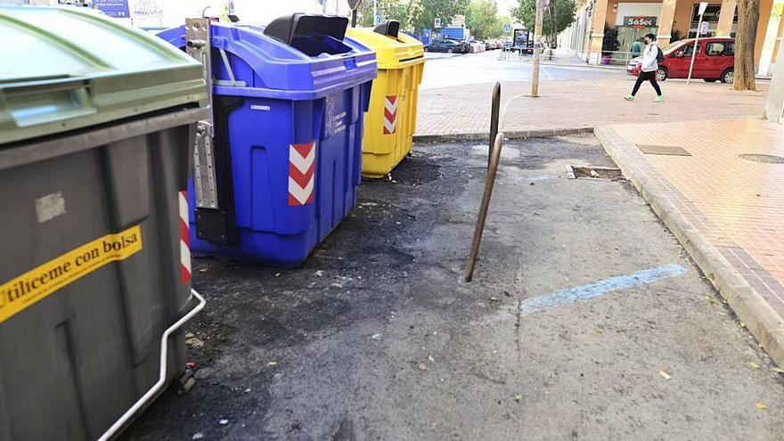 Cambio de contenedores tras el incidente