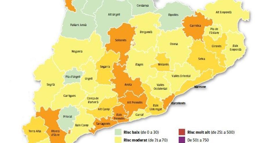 El risc de rebrot a Catalunya el 19 de juny