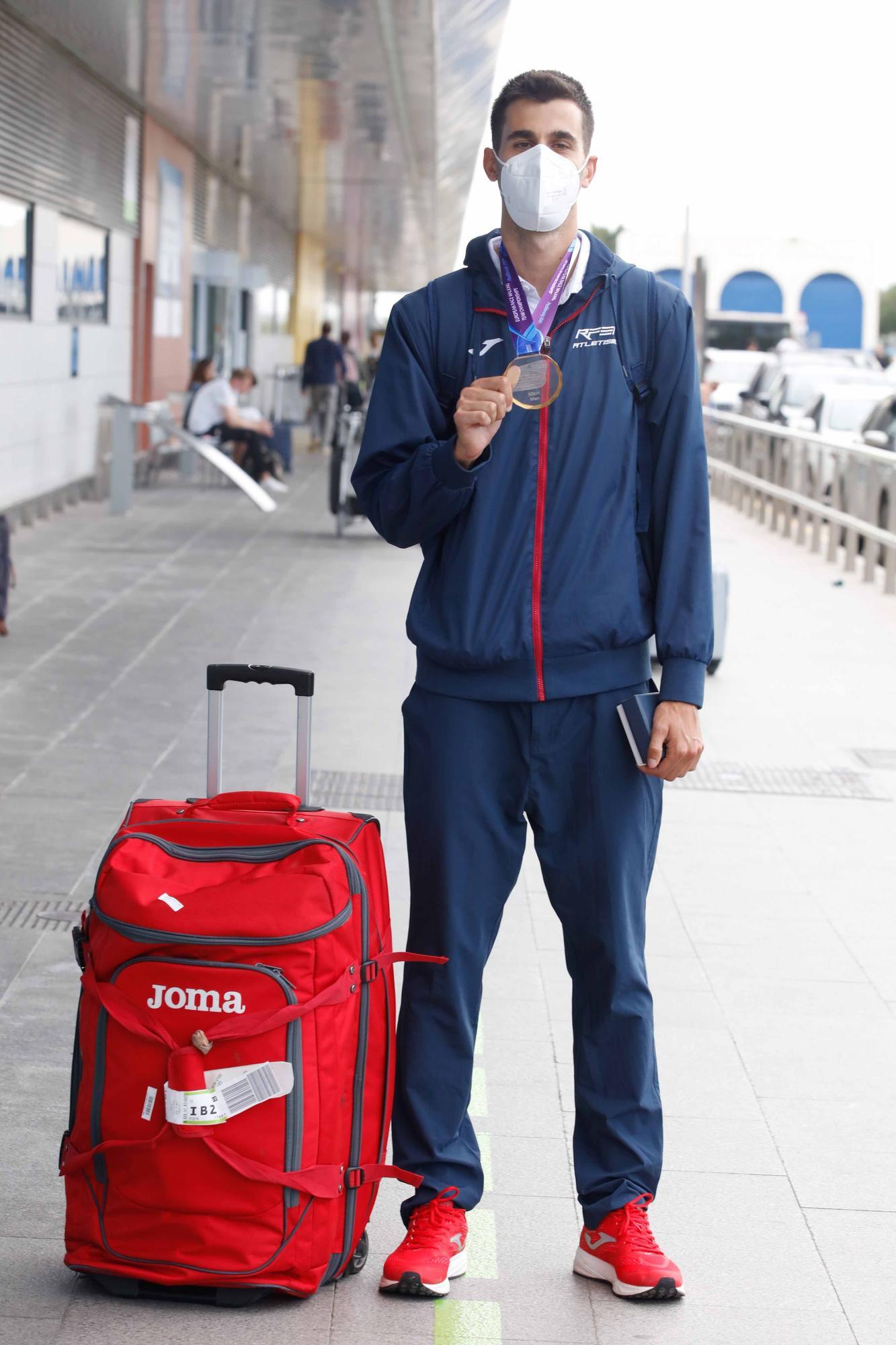 Marc Tur llega a Ibiza tras proclamarse campeón de Europa de marcha
