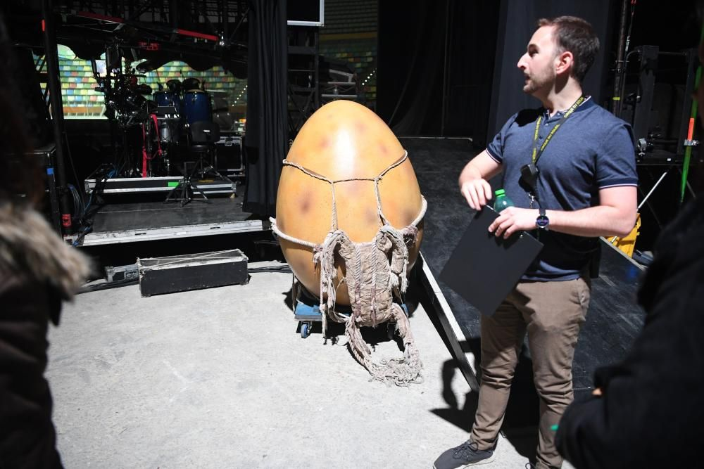 Ensayo del espectáculo 'Ovo' del Circo del Sol