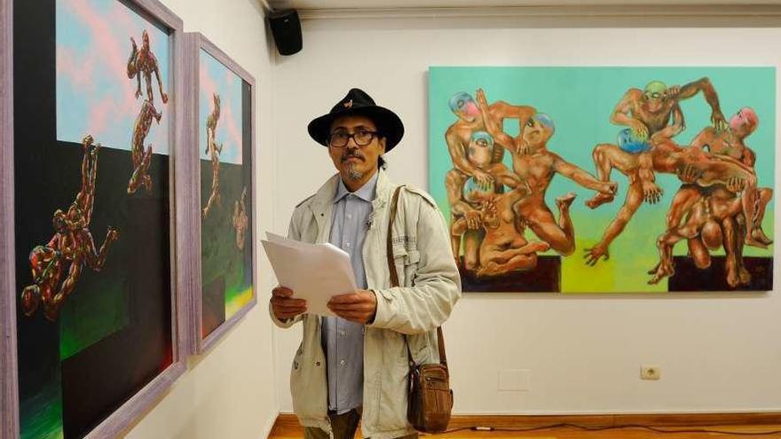 """Carlos Santos: """"La obra trata la entropía desde un punto de vista histórico, maternal o de pareja"""""""