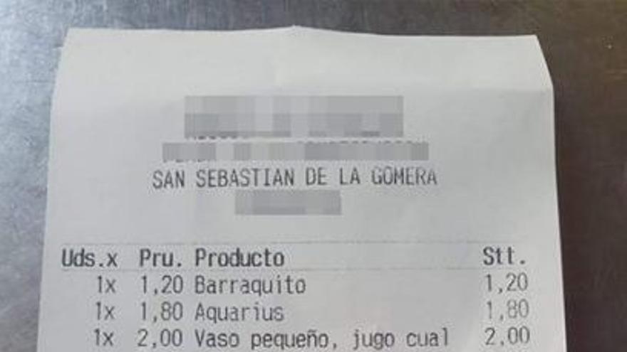 Un nuevo 'sablazo' en la cuenta de una cafetería se hace viral en Canarias