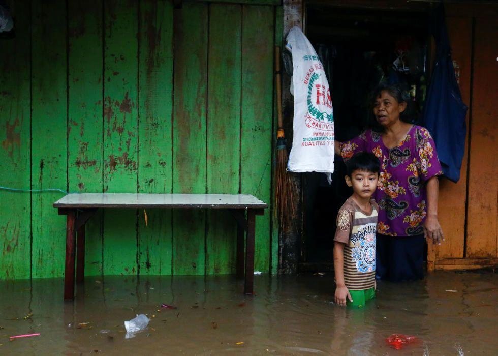 Inundaciones en Yakarta.