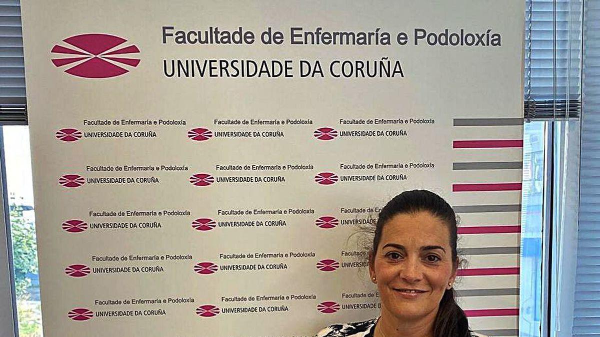 La decana Emma Rodríguez Maseda, ayer.