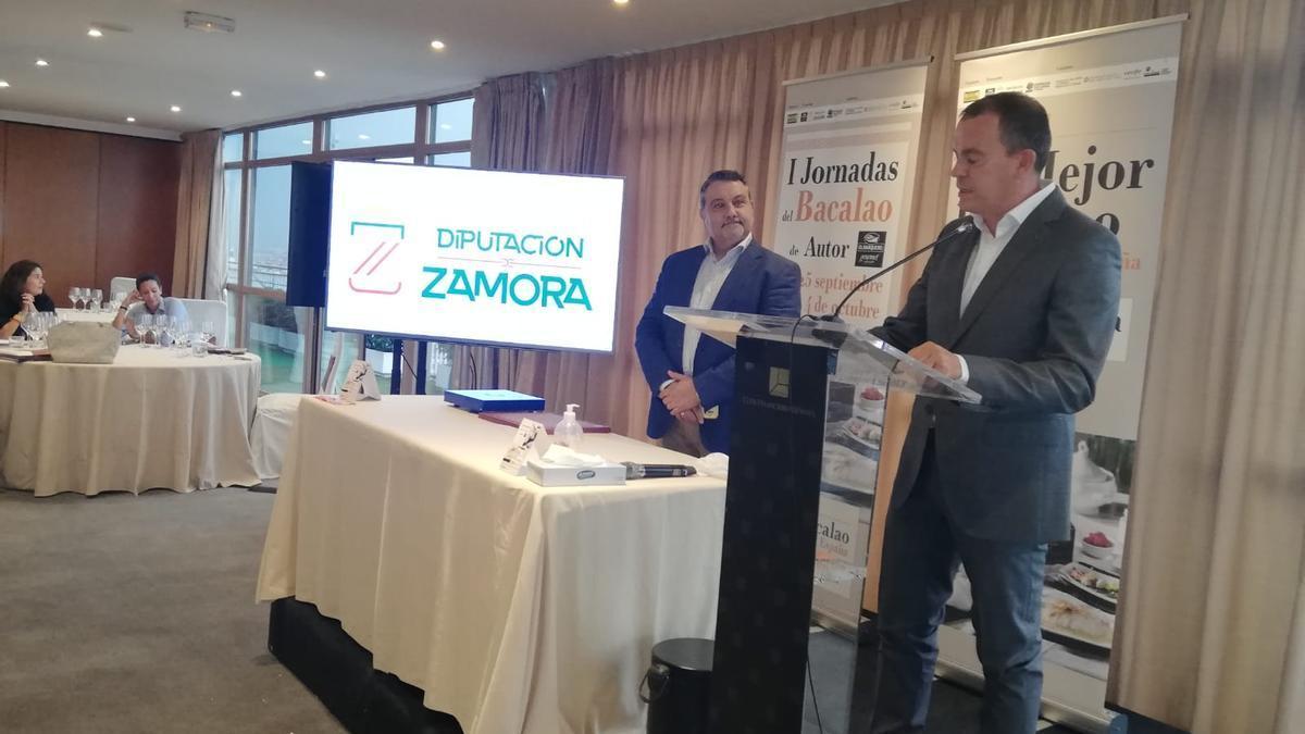 Francisco José Requejo, en la presentación de Zamora en Madrid.