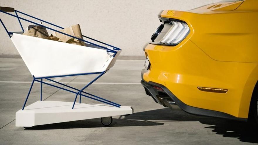 Ford desarrolla un carrito de la compra con freno automático