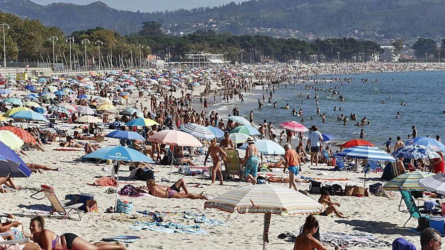 Y el calor llegó por fin en agosto a Vigo