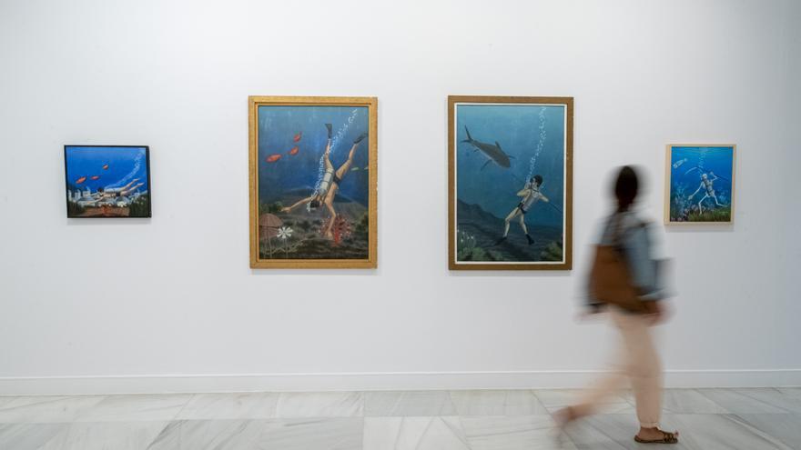 El CAAM inaugura la primera exposición retrospectiva del pintor palmero José Martín