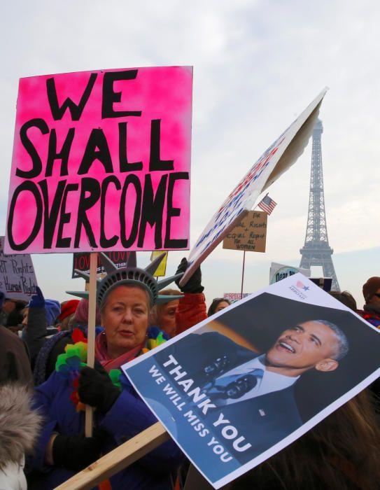 Protestas contra Donald Trump en París