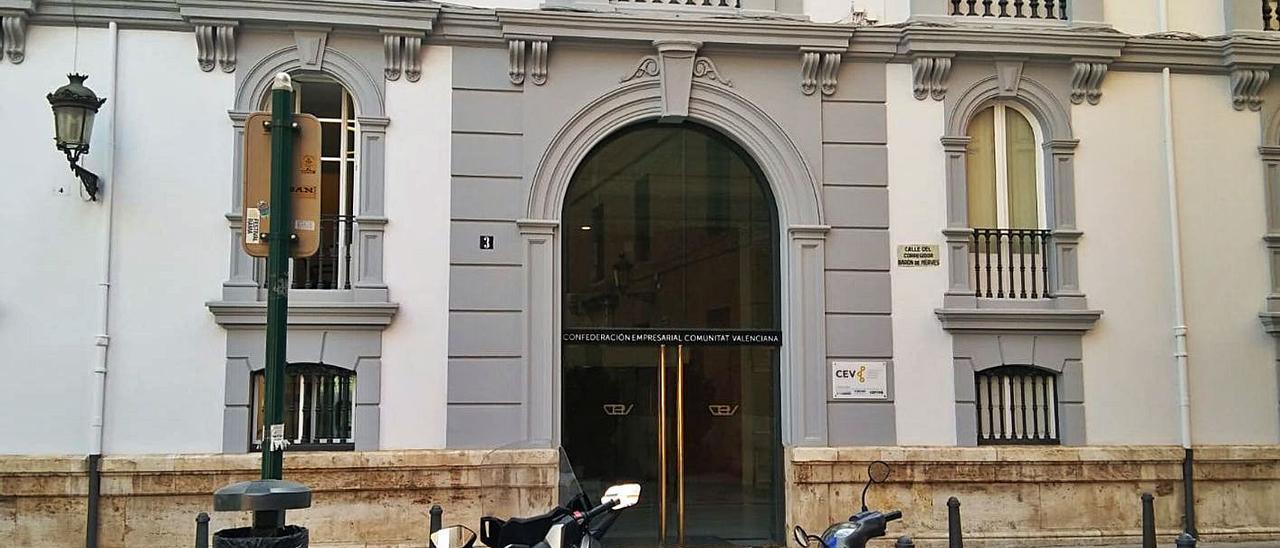 Sede de la patronal autonómica CEV en València.