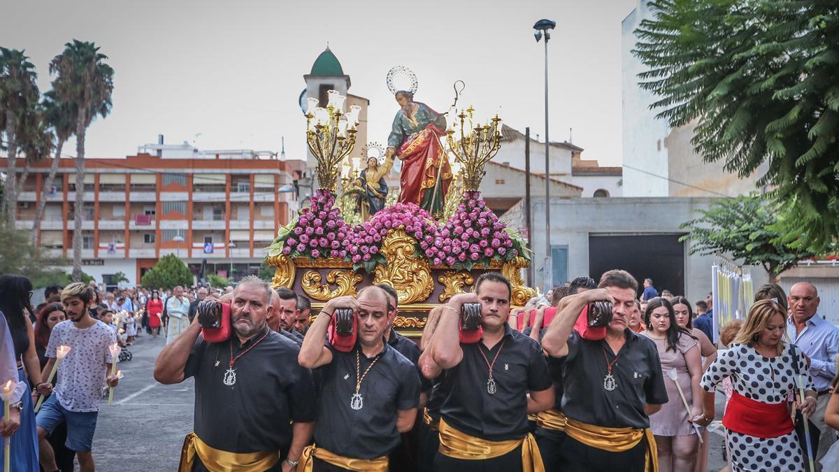 Imagen de la procesión en honor a San Joaquín en agosto de 2018