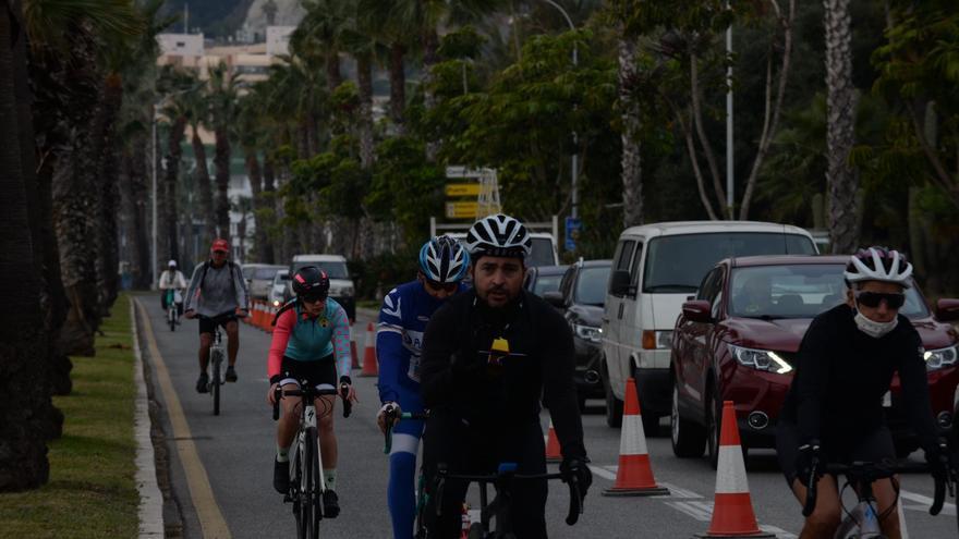 Movilidad cierra hoy al tráfico el carril ciclable entre Antonio Martín y los Baños