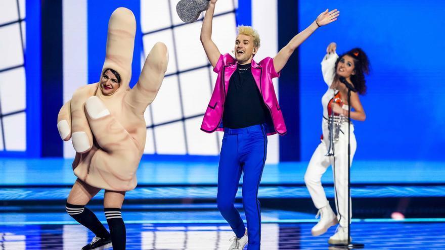La inesperada prueba del 'Grand Prix' que se coló en la final de Eurovisión