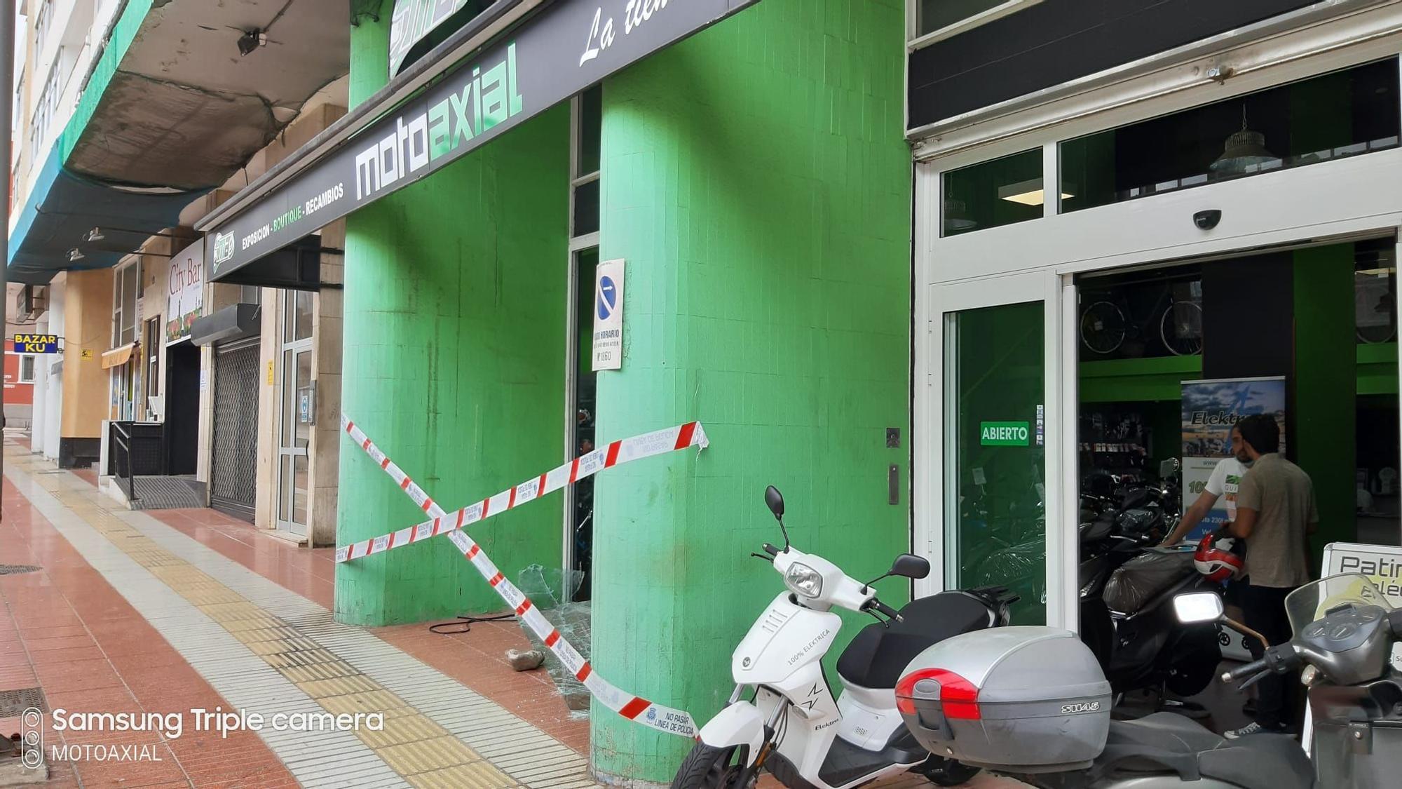Robo en una tienda de motos de Las Palmas de Gran Canaria