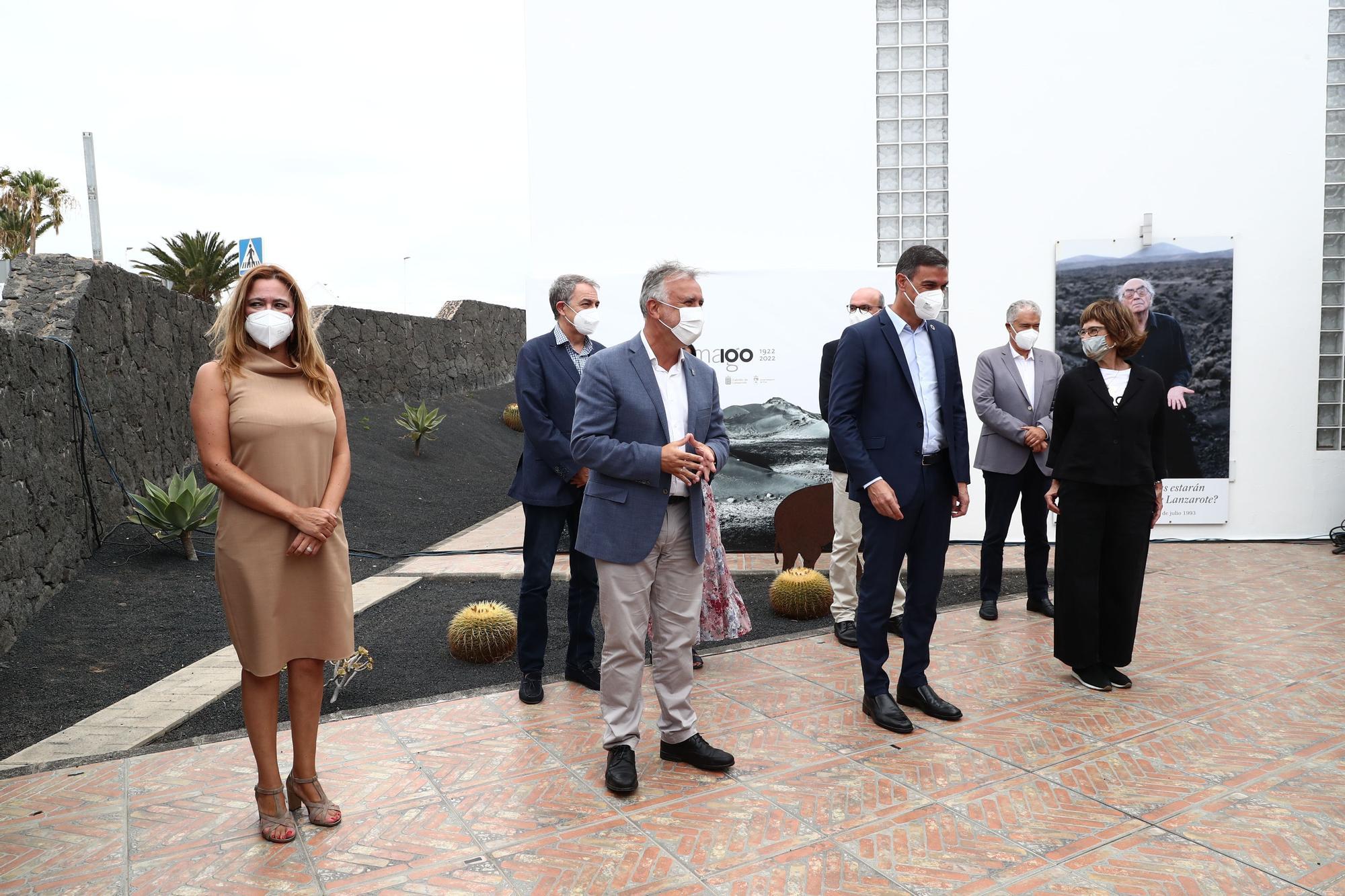 Pedro Sánchez participa en el acto de presentación del centenario de José Saramago (11/08/2021)