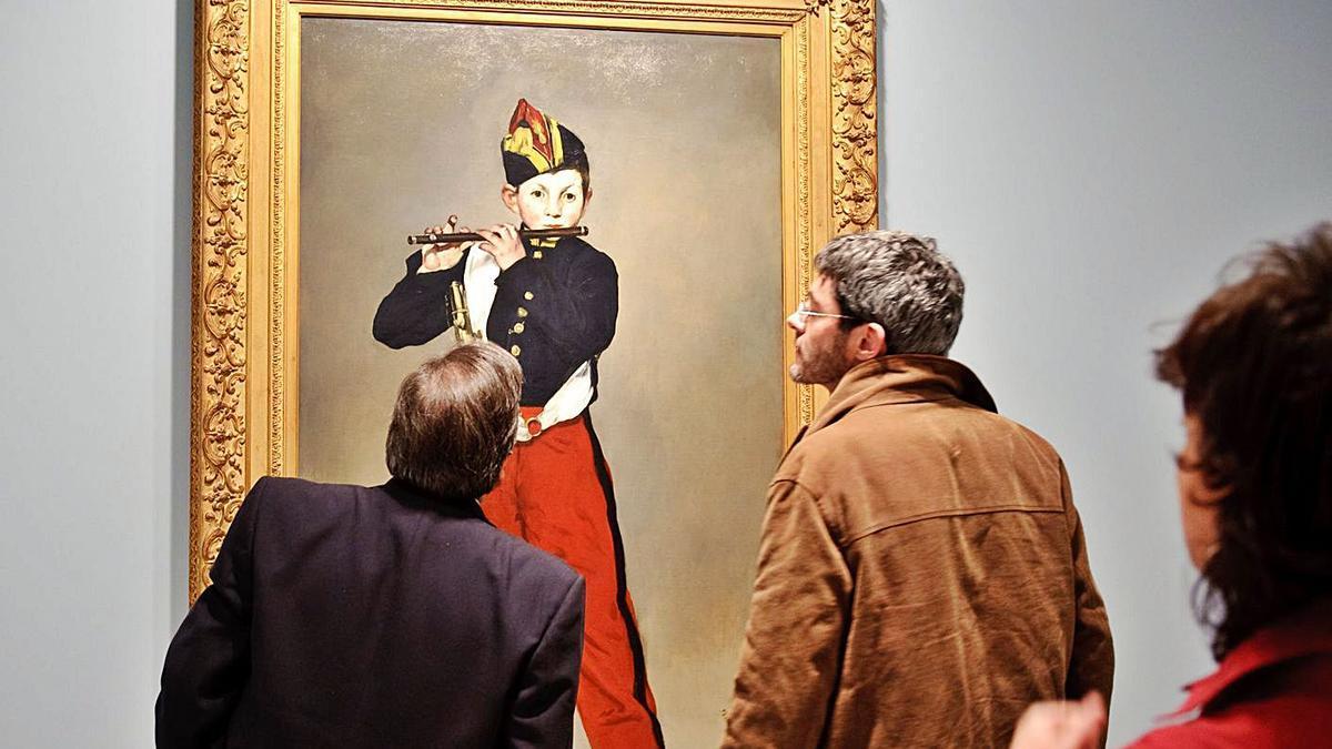 'El pífano', obra de Édouard Manet, en una de las exposiones históricas organizadas por la Fundación Mapfre en Madrid.