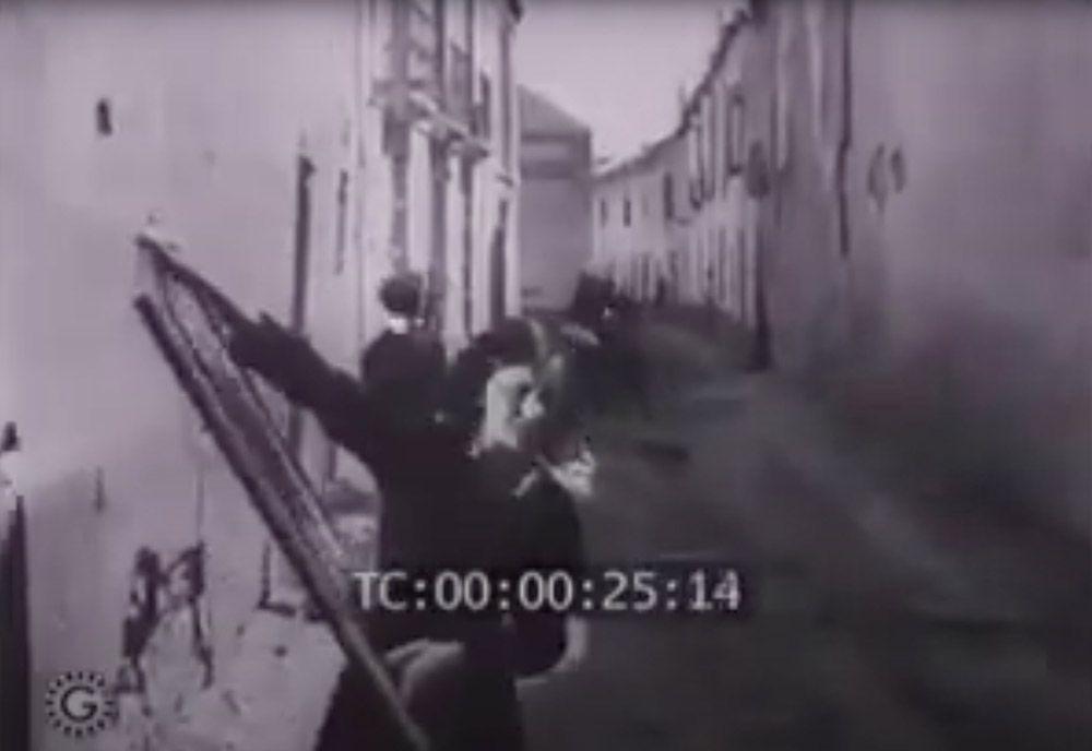 1936 Fotograma de los bombardeos republicanos en la capital.