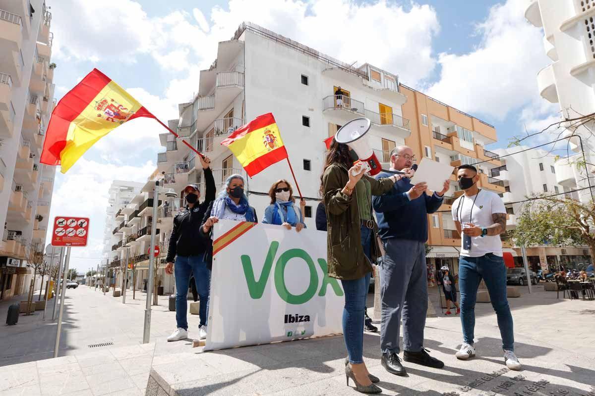 Concentración de Vox en Ibiza