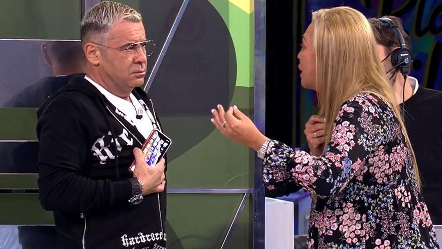 Belén Esteban abandona el plató de 'Sálvame' tras un enfrentamiento con Rafa Mora
