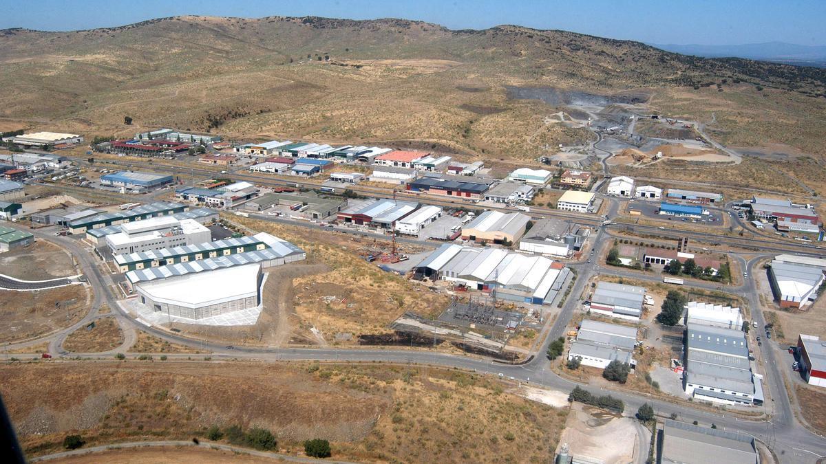 Vista aérea de una parte del polígono industrial.