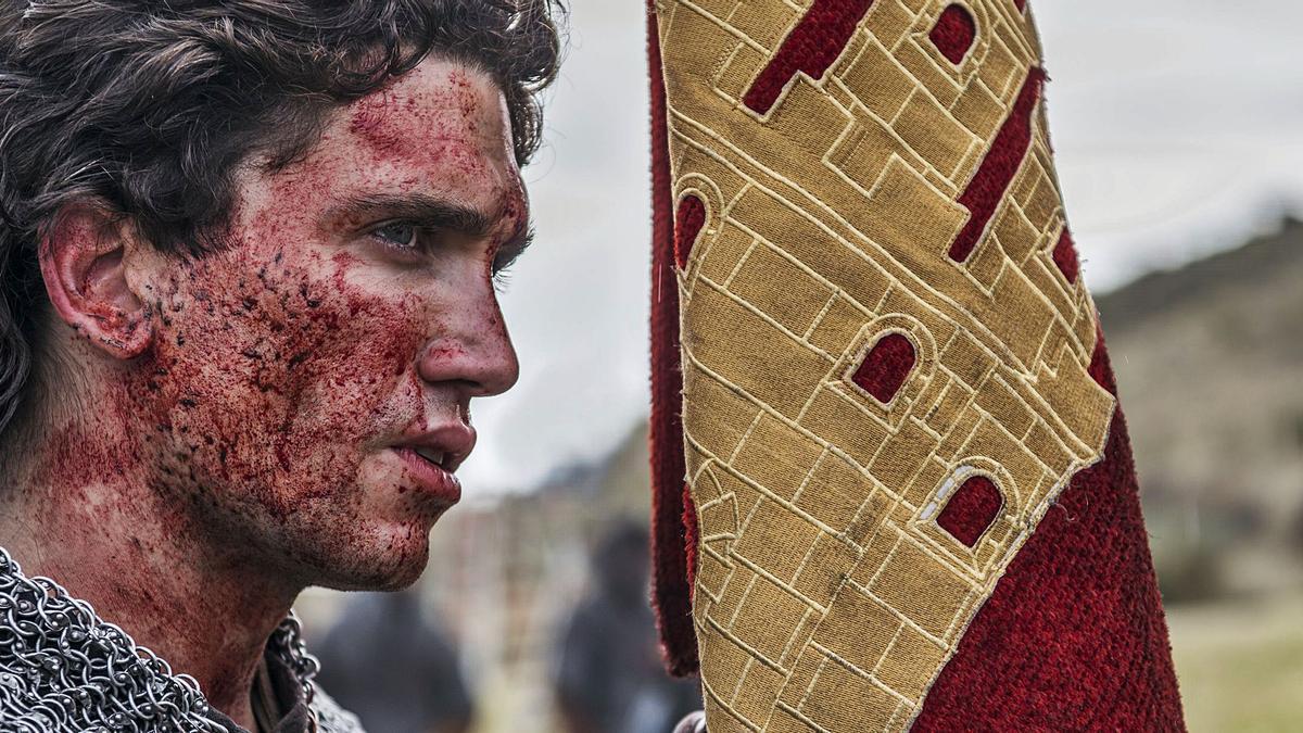 El actor murciano Jaime Lorente, durante el rodaje de 'El Cid'.