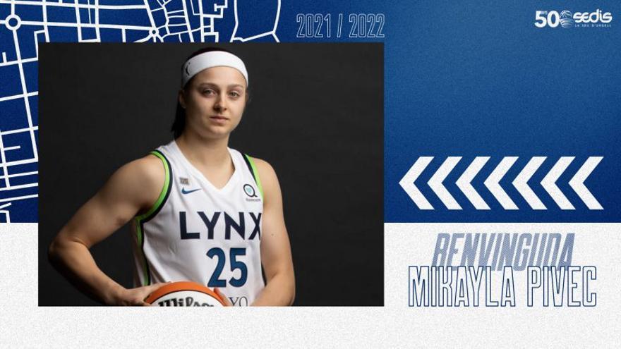 El Cadí contracta la jugadora exterior Mikayla Pivec