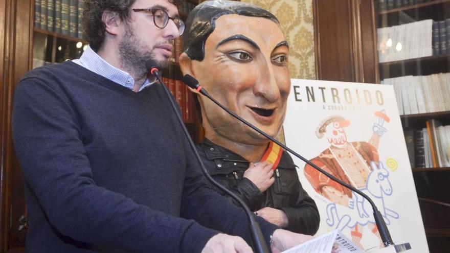 Un cabezudo de Francisco Vázquez abre el Entroido A Coruña 2017
