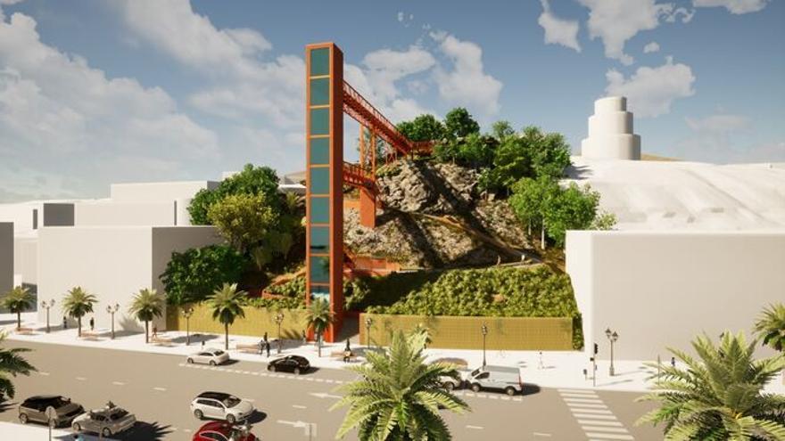 Torremolinos licita el ascensor panorámico al Parque de la Batería