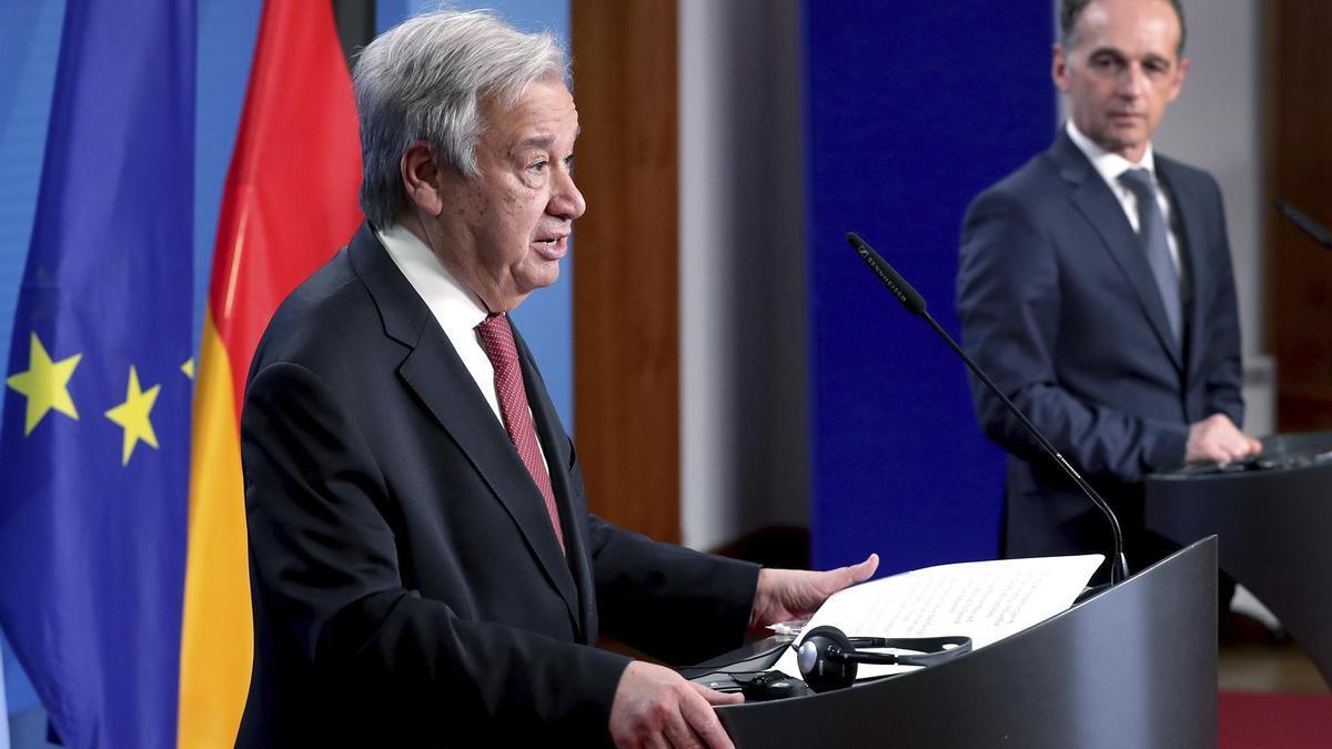 El secretario general e la ONU, António Guterres.