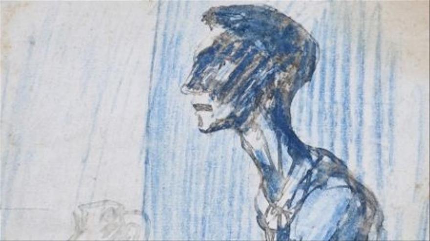 Subastan por 85.000 euros un dibujo de la etapa azul de Picasso
