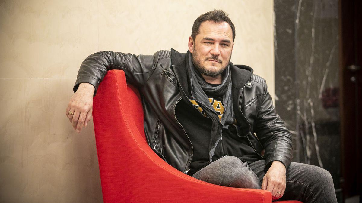 Ismael Serrano, en un hotel de Barcelona, la pasada primavera