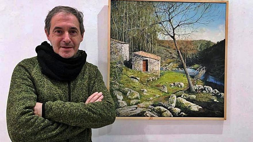 Los molinos de O Rosal inspiran a pintores de toda España