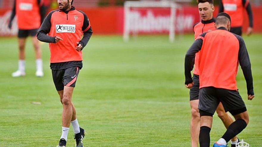 Pablo Pérez, el único que volvió a entrenar entre los jugadores que son duda