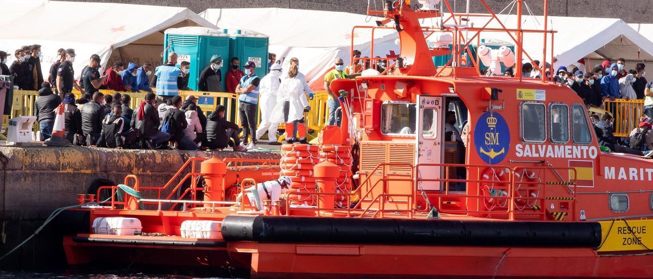 Llegada de 348 migrantes a Arguineguín el jueves 26/11/2020