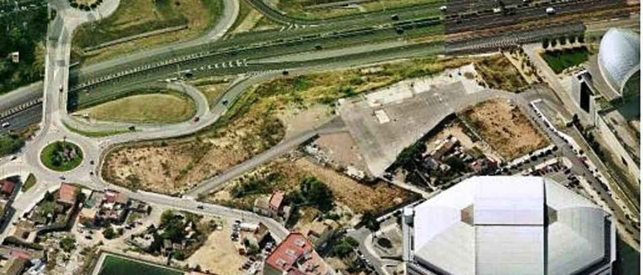 Vista aérea de la zona, junto al velódromo Luis Puig.   LEVANTE-EMV