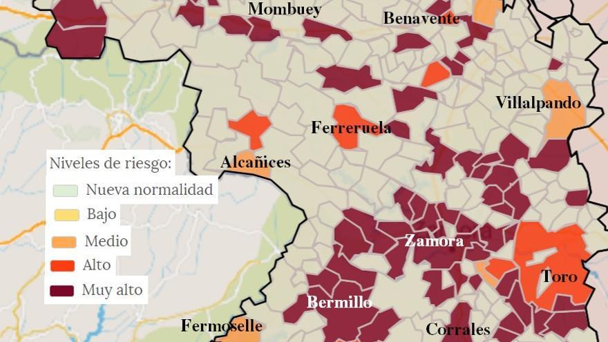 Fermoselle, Galende, Alcañices y Mombuey entre las 14 localidades de Zamora con positivos en los últimos dos días
