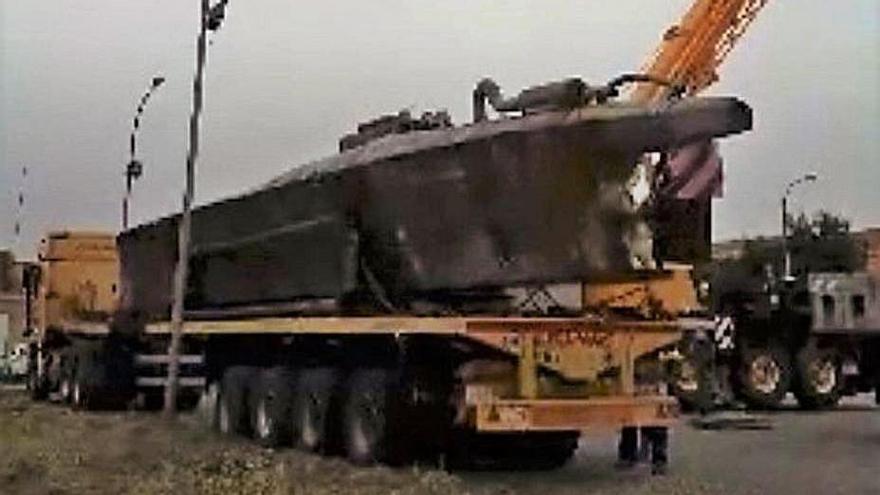 Captura del vídeo con la llegada del aparato a Ávila.   | // POLICÍA NACIONAL