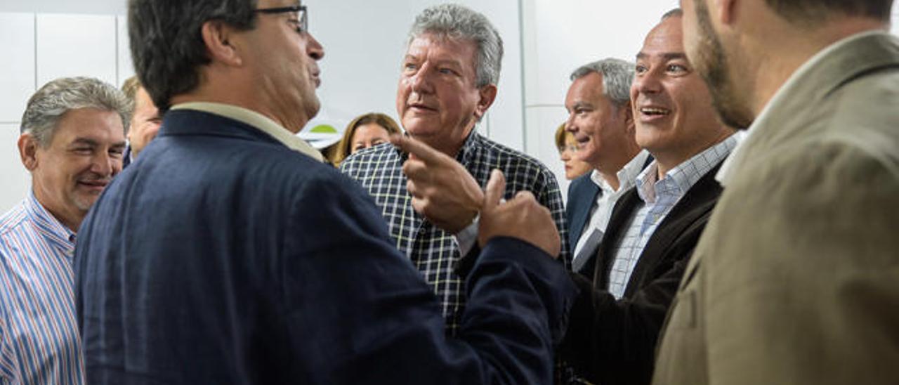 Pedro Augusto Brito, Javier Doreste, Pedro Quevedo y Augusto Hidalgo